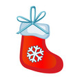 christmas toy in the form of red boots santa claus vector image vector image