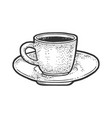 coffee cup sketch vector image vector image
