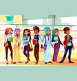 college students nationalities vector image vector image