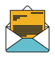 color sections silhouette of envelope mail opened vector image vector image