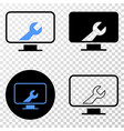 computer settings wrench eps icon with vector image