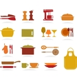 Cute Kitchen Collection vector image vector image