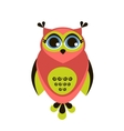 Cute red owl vector image vector image