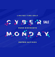 cyber monday sale abstract card flayer or vector image vector image