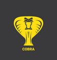 dangerous cobra snake head with hood logo vector image