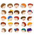 Different emotions of little boys vector image vector image