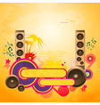 Disco Dance Tropical Music Background vector image vector image