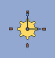 flat icon design collection gear and watches vector image vector image