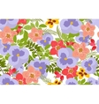Floral pansy rose background vector image vector image