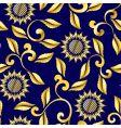floral sari pattern vector image vector image