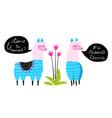 funny lamas animals conversation talk flat kids vector image vector image
