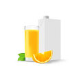 glass of orange juice and a slice of orange and a vector image vector image