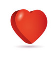 heart isometric 3d icon vector image vector image