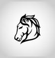 horse logo icon vector image
