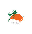 island symbol logo vector image