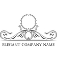 Luxury logo set Calligraphic pattern elegant vector image vector image