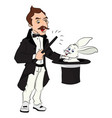 magician performing tricks vector image