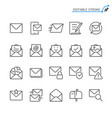 mail line icons editable stroke vector image vector image