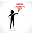 Man holding happy mothers day vector image