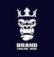 modern angry gorilla logo vector image vector image