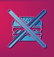 no burger sign blue 3d printed icon on vector image vector image