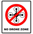 no fly drones sign no fly zone drone sign vector image vector image