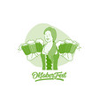 oktoberfest beer festival concept vector image