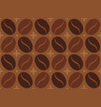 pattern with coffee bean vector image