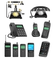 phone evolution vector image vector image