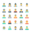 Professions Colored Icons 4 vector image