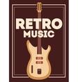 retro music poster design vector image