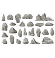 rock stones and debris mountain gravel vector image vector image