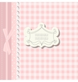 Romantic scrap booking template for invitation vector image vector image