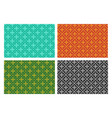 seamless cross pattern in pixel design vector image vector image