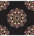Seamless Round Mandala Wallpaper Round frame vector image vector image