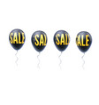 set of colored balloons with word of sale symbol vector image
