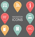 Set of navigation icons Outlined icons public vector image