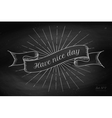 set old vintage ribbon banners with word vector image