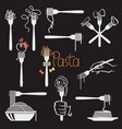 set pasta elements vector image vector image