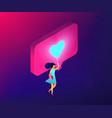 sharing content online isometric 3d concept vector image