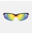 sport glasses mockup realistic style vector image