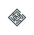 square maze concept logotype template design vector image vector image