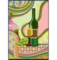 Stained-glass window Wine vector image