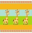 three giraffe background vector image