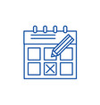 time planning line icon concept time planning vector image vector image