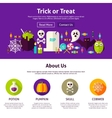 Trick or Treat Web Design Template vector image vector image