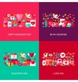 Valentines Day Greeting Set vector image vector image