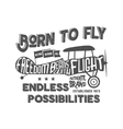Vintage airplane lettering for printing vector image vector image