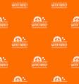 water energy pattern orange vector image vector image