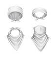white bandana scarf set vector image